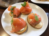 Smoked Salmon Blinis, Horseradish Cream, Watercress