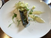 Grilled Mackerel, Apple & Vanilla Puree, Fennel & Lime