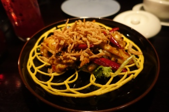 Stir-fry Australian lobster in spicy black bean