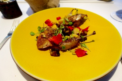 Barbecued Anjou Quail & Red Roses, 'Like Water for Chocolate'