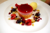 Bramble Bavarois with Sorbet