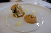 Eyemouth crab salad, apple & coriander, black garlic, lemon purée, brown crab on toast