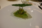 Atlantic langoustine carpaccio sour cream and char caviar