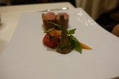 Loin of Limousin lamb braised provençal vegetables and basil coulis