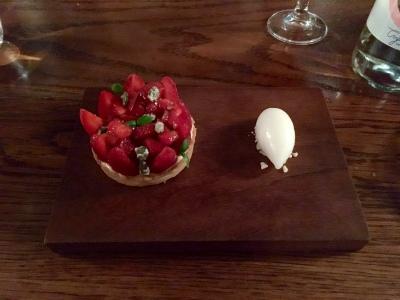 Strawberry Tart with Elderflower Sorbet