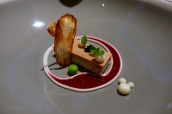 Goose Liver, Smoked Eel, Horseradish, Potato Chip, Sourdough Bread, Beetroot & Lovage