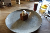 Hand & Flowers Chocolate and Ale Cake with Salted Caramel and Muscovado Ice Cream
