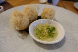 Quail egg croquette puff