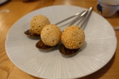Foie gras sticky sesame dumpling