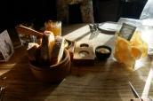 Sourdough & Soda Bread, Welsh Rarebit Dip, Potato Crisps