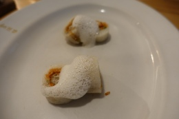 'Breakfast in Causeway bay' sticky rice roll, crispy dough stick and lava floss