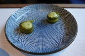 Courgette with Spicy Matcha Cream