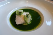 Hamachi, jade sauce, sansho pepper