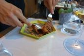 Suckling pig, dashi, japanese mustard