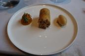 Quince, Macadamia Nougat, Passion Fruit