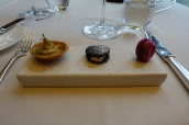 Canapés - Coronation Chicken Tartlet; Smoked Eel 'Oreo', Beetroot Meringue with Yuzu