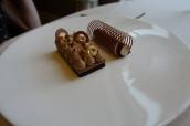 Chocolate Ganache, Caramelised Hazlenut and Malt ice cream