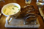 Smoked Haddock Soup with Toast