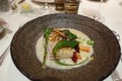 Miso Glazed Cod, Geranium, Coconut Broth & Sudachi