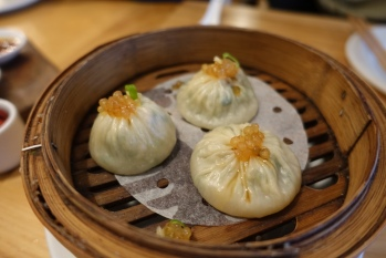 Shanghai steamed dumpling, ginger infused vinegar