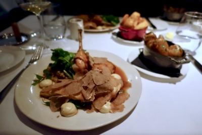 Roast Poulet de Bresse, Celeriac Puree, Green Beans, Sage & Offal Stuffing, White Truffle