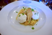 Kedgeree - Curried Rice with 2 Poached Cacklebean Eggs & Smoked Haddock