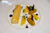 Frozen Bergamot Parfait, Orange Jelly, Liquorice Cream