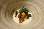Turnip, maran yolk, nasturtium
