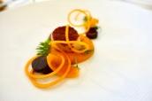 Scallop, Tandoori, carrot, citrus, coriander