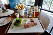 Sirloin of Beef, Ale Braised Short Rib, Bone Marrow, Horseradish Hollandaise