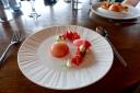 Strawberry Bavarois, Gariguettes, Elderflower, Lemon Balm