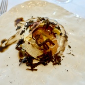 Warm Pheasant's Egg, Celeriac, Arbois, Dried Ham and Truffle