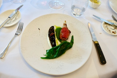 Herdwick Lamb, White Aubergine Dusted with Dried Olives and Black Tea